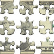 Royalty-Free Stock Photo: Ten USA dollar puzzle