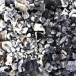 Texture of charcoal close up - Stock Photo