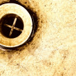 Royalty-Free Stock Photo: Old rusty sink drain