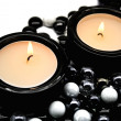 Candles in candlesticks — Stock Photo