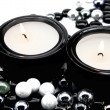 Candles in candlesticks — Stockfoto