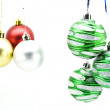 Christmas-tree decorations isolated — Lizenzfreies Foto