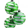 Christmas-tree decorations isolated on a — Stock Photo #1587927