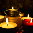Group of candles - Stock Photo