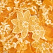 Fabric with a floral pattern — Stock Photo