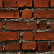 Old red brick wal — Stock Photo