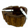 Ashtrays with cigarette — Stock Photo