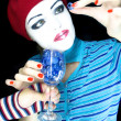 Stock Photo: Girl - mime