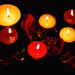 Lighted decorative candle — Stock Photo