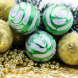Multi-coloured Christmas-tree decoration - Stock Photo