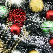 Multi-coloured Christmas-tree decoration — Stock Photo