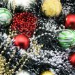 Multi-coloured Christmas-tree decoration — Stock Photo #1589529