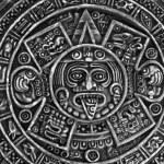 Pagan ornament a sun stone — Stock Photo