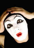 Portret of the mime — Stock Photo