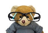 Teddy bear in glasses — Stock Photo