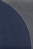 Old dark blue leather cover — Stock Photo