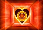 Astratto con un simbolo del cuore — Foto Stock