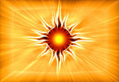 Blowing up symbol of the sun — Foto de Stock