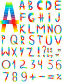 Original multi-coloured font — Stock Photo
