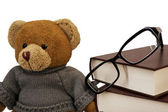 Teddy bear, glasses — Stock fotografie