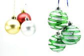 Christmas-tree decorations isolated — Stock fotografie