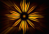 Blowing up sun — Stock Photo
