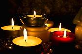 Skupina svíček — Stock fotografie