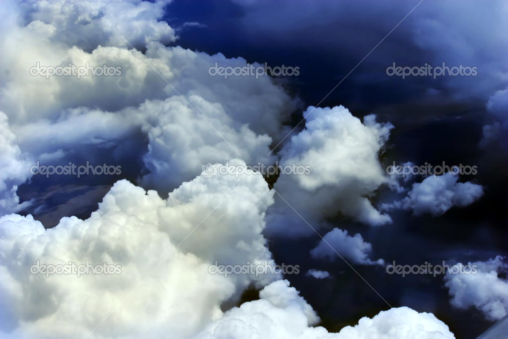 Background with a storm clouds — Stock Photo #1587276