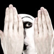 Portrait of the mime — Stock Photo