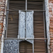 Stock Photo: Window with a lattice