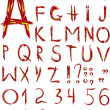 Stock Photo: Original red font