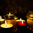 Foto Stock: Group of candles