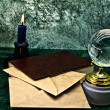 Glass globe and old book — Stock Photo #1600443