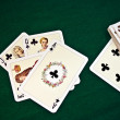 Old playing cards - Stock Photo