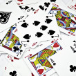 Background from playing cards — Stock Photo