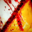 Bloody cross — Stock Photo #1601609