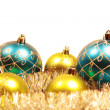 сard with christmas-tree decorations — Stockfoto