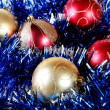 Multi-coloured christmas decorations — Stockfoto