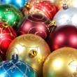 Christmas decorations spheres — Stock Photo