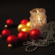 Candles  with christmas — Stock Photo