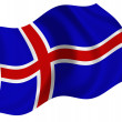 Flag of the Iceland — Stock fotografie