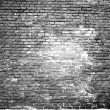 Stock Photo: Texture of scorched old white brick wall