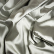Texture of a white silk — Stock Photo