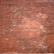 Structure of an old red brick wall — Stock Photo #1604037
