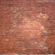 Structure of old red brick wall — Stock Photo #1604037