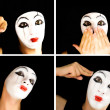 Portret of the mime — Stock Photo #1604260