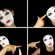Portret of the mime — Stock Photo #1604302