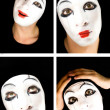Portret of the mime — Stock Photo #1604310