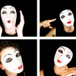 Portret of the mime — Stock Photo #1604316