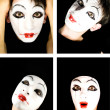 Portret of the mime — Stock Photo #1604320
